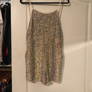 Sequin Romper with Pockets. Size 8